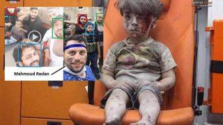 เด็กซีเรียได้รับบาดเจ็บ ถ่ายโดยชายที่เป็นพวกเดียวกับกลุ่มตัดคอเด็กปาเลสไตน์