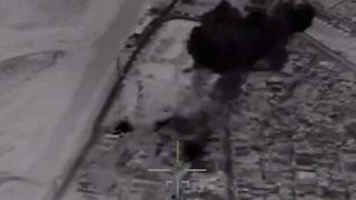 เผยคลิปจากโดรนขณะขีปนาวุธข้ามประเทศของอิหร่านบดขยี้ไอซิสในซีเรีย