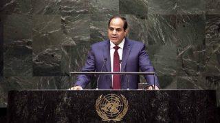 ประธานาธิบดีอียิปต์ เรียกร้องสันติ และการอยู่ร่วมกันในตะวันออกกลาง