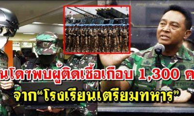 """โควิด: อินโดนีเซียพบอีก ผู้ติดเชื้อเกือบ 1,300 คน จาก """"โรงเรียนเตรียมทหาร"""""""